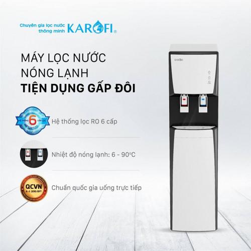 Máy lọc nước nóng lạnh Karofi HCV351 WH